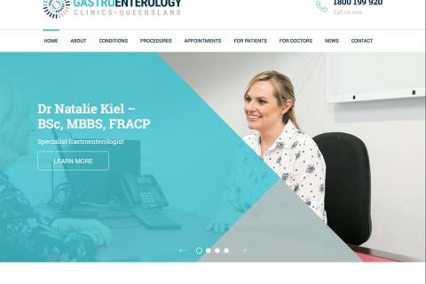 Screenshot of Gastroenterology Clinics Queensland website